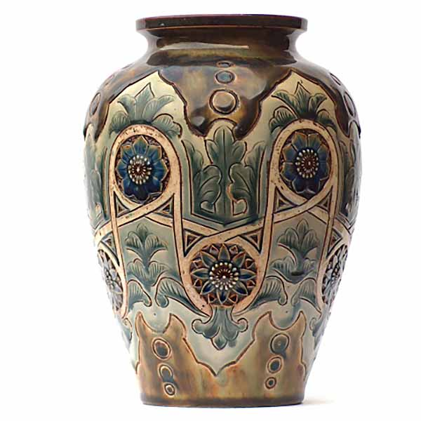 A Doulton Lambeth 8.75in vase by Frank A Butler