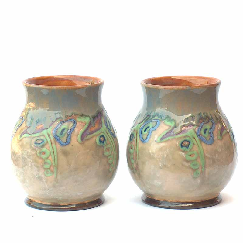 A Pair of Art Nouveau vases by Maud Bowden