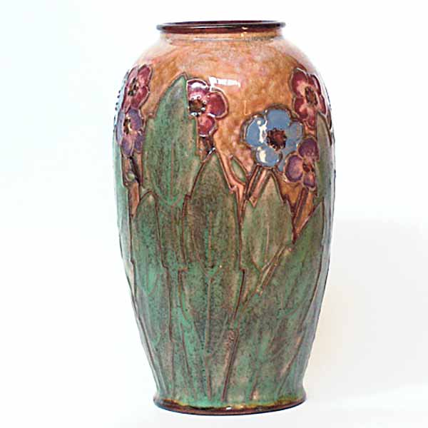 An Art Nouveau Royal Doulton vase by Maud Bowden