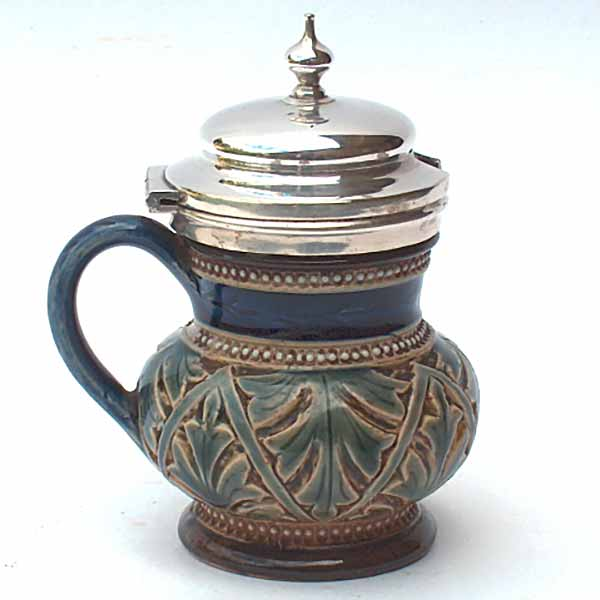 Doulton Lambeth mustard pot by Ernest R Bishop