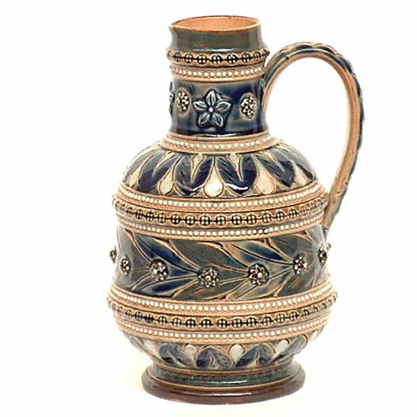 "A 6"" Doulton Lambeth jug by Elizabeth A Sayers"