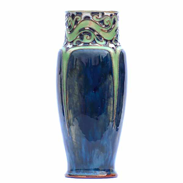 A 10in (25cm) Royal Doulton vase by Bessie Newbery to a design by Francis Pope