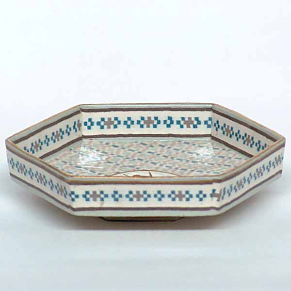 A very rare Doulton Lambeth marqueterie dish  in excellent condition