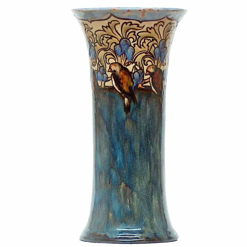 An 11.75in (29cm) Royal Doulton vase by Eliza Simmance - 385