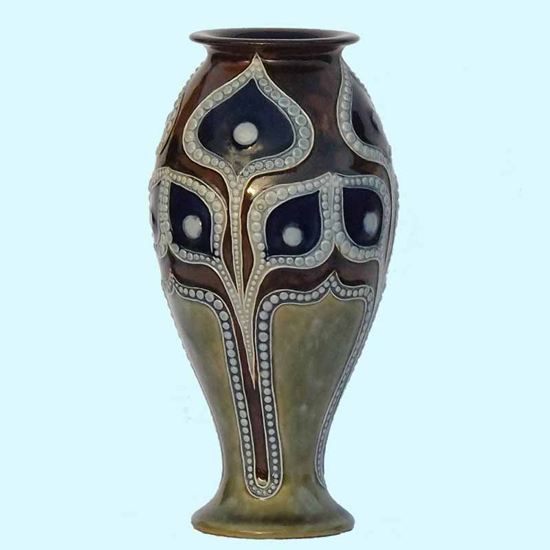 A 7.25in (18cm) Doulton Lambeth vase designed by Frank A Butler - 565