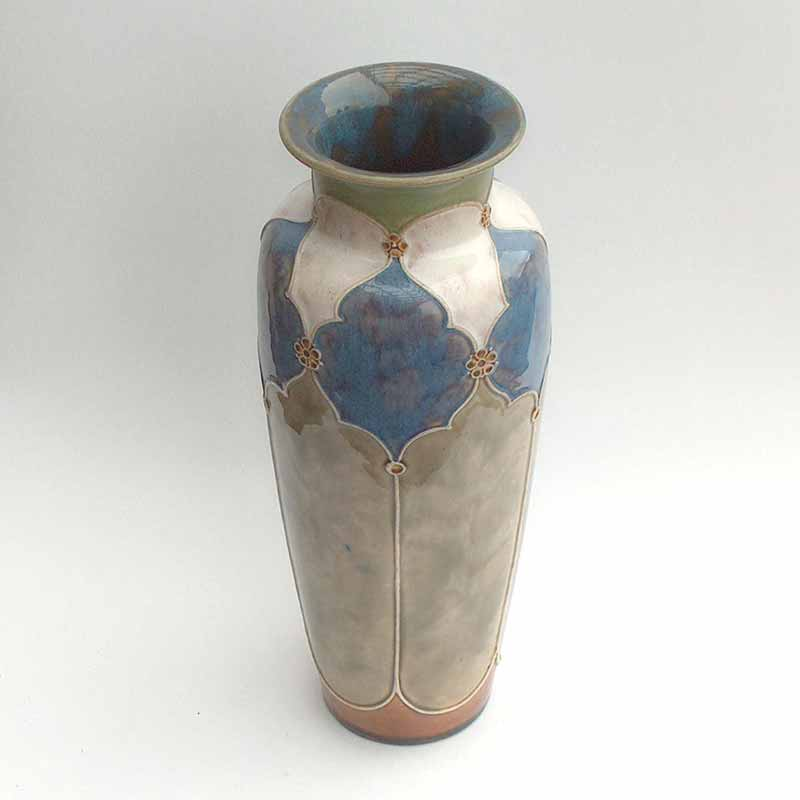 Royal Doulton Art Nouveau stoneware vase by Florrie Jones - 7822A