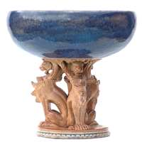 A bowl with gryphons by mark V Marshall
